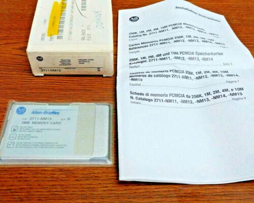 Allen Bradley 2711-NM13 PanelView Memory Card 2M PCMCIA