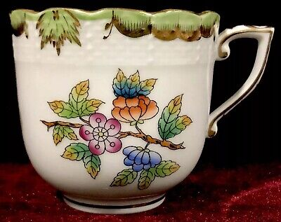 "EXCELLENT! HEREND Queen Victoria Mocha Cup ~ # 707 ~ 2-1/2"" x 2-3/4"" FREE SHIP!!"