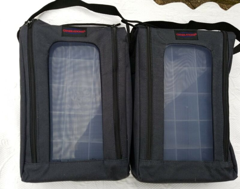 2 New GENERATIONS Crafts Black Tote Bag Organizer Scrapbooking Dividers 12x8x3