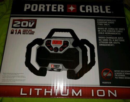 PORTER-CABLE 20-volt Max Cordless Jobsite Radio Durable , PC
