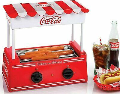 Hot Dog Roller Bun Warmer Adjustable Heat Machine Cooker Grill Retro