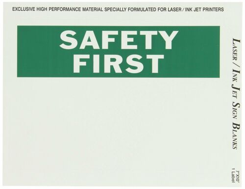 """Brady 25 Pack 13027 7"""" Height 10"""" Width B-744 Laser Printable Polyester Signs"""