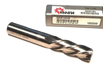 Hanita Cobalt Square End Mill 12 4fl 12 X 1-14 X 3-14