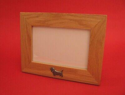 Basset Hound Photo Frame - Basset Hound Motif 4 x 6 Real Oak Picture Photo Frame Landscape Great Gift