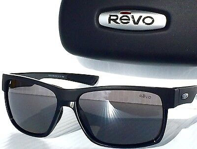 NEW! REVO CAMDEN Matte BLACK w POLARIZED GREY Sunglass 5011 01 GY Two Face](Two Face Face)