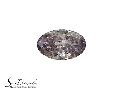 Diamond Natural Color Fancy Brown Purple 0.09 ct carat Loose Oval Cut NO GIA