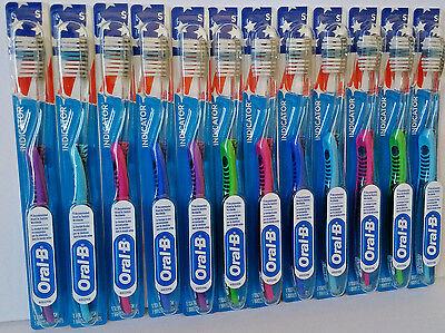 (12) ORAL-B INDICATOR 35 Soft Flat trimToothbrushes - Bulk wholesale BEST
