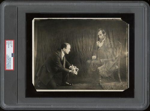 Harry Houdini 1922 Magician Type 1 Original Photo Abraham Lincoln Spirit PSA/DNA