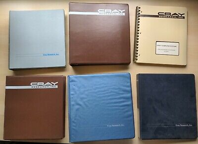 Cray Research Super Computer Manuals, collection of 6 vintage manuals