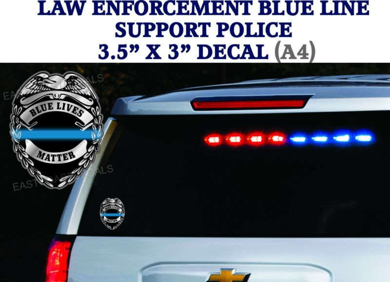 10 decals Support Police Thin Blue Line Officers DECAL Sticker BLUE LIVES MATTER