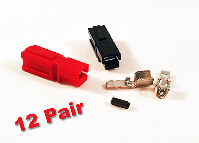 Anderson Powerpole Sermos 45amp 12 Pair Acdc Connectors Redblack Roll Pins