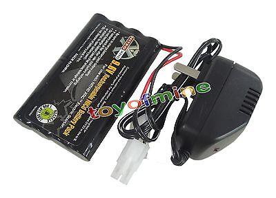1x Ni-cd 9.6v 2400mAh Rechargeable Battery + Main Charger Tamiya Connector USA