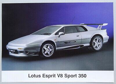 V14519 LOTUS ESPRIT V8 SPORT 350 - FICHE - NON DATE - A4 - D