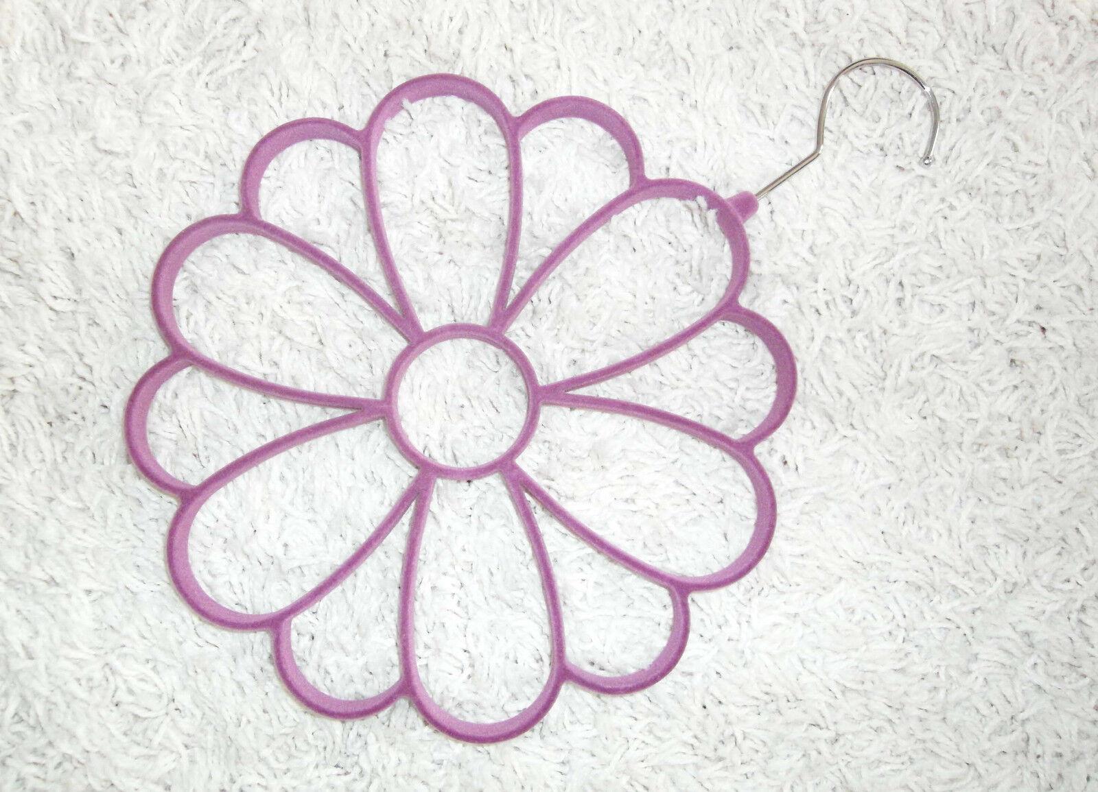 Tchibo Schalbügel, Tuchbügel Accessoires-Bügel, Blumenform, Schalhalter, lila
