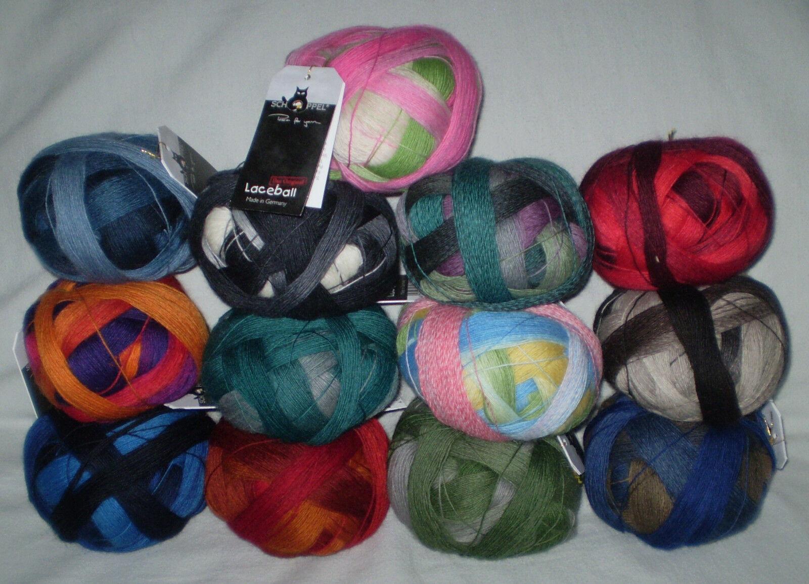 11,50€ / 100 gr LACE BALL / LACEBALL von Schoppel dünnes Lacegarn Farbverlauf