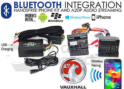 Vauxhall Astra Bluetooth streaming adapter handsfree calls CTAVXBT001 AUX iPhone
