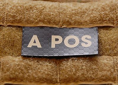A POS Blood Type IR Patch Infrared US Army Navy Air Force SEAL USN USAF Hook