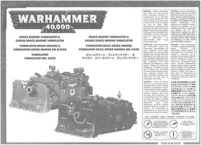 Notice d'assemblage (Assembly instruct°) Vindicator Space Marine/Chaos - WH 40K