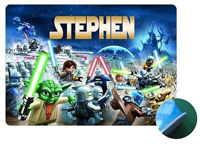 Personalised Lego Star Wars Place Mat- Easy Wipe clean - EVA Sponge Backed