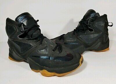 Nike Lebron XIII 13 Basketball Shoes Size 8 807219-001 Black Anthracite Gum