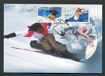FRANCE MK 2004 SPORTS SNOWBOARDING SURFING MAXIMUMKARTE MAXIMUM CARD MC CM d4748