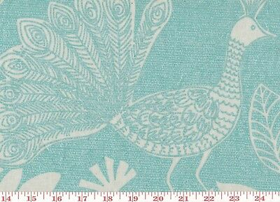 (Hot Calender Finish Upholstery Fabric by P Kaufmann Iridescent Peacock CL Teal)