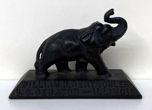 1960 William Rentschler Republican for US Senator Elephant Political Paperweight