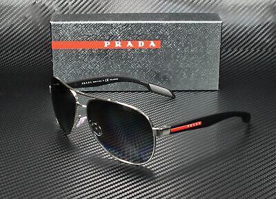 Prada SPS 53P 1BC-5W1 Silver Black Aviator Men's Sunglasses