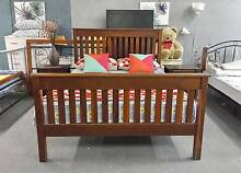 LUXURY SOLID WOODEN queen bed & mattress SOLD, SIMILAR AVAILABLE Belmont Belmont Area Preview