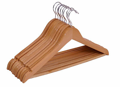 Holz Kleiderbügel mit Hosenstange - 10/20/50 Stück - Holzbügel Garderobenbügel
