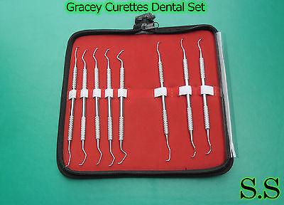 Gracey Curette Set Of 8 Dental Surgical Instruments Pr-122