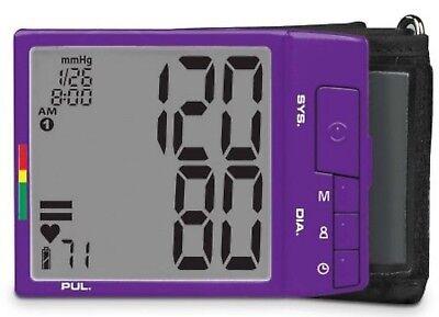 New Veridian Digital Blood Pressure Monitor Purple Wrist Cuff Xtra Large Display
