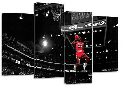 Michael Jordan 23 legend nba best player ever dunk  split canvas