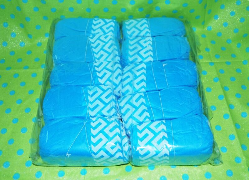 100 DISPOSABLE SHOE COVERS NON-SKID/ MEDICAL/ LGE (UNI) TO SIZE 10 VALUE PRICE