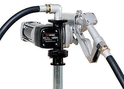 Fuelworks 12v 15gpm Gas Disesel Fuel Transfer Pump Kit Heavy Duty