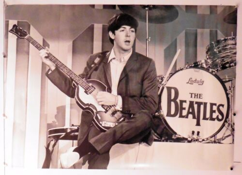 "Paul McCartney rare vintage poster beatles 24"" X 34"" NOS (b154)"