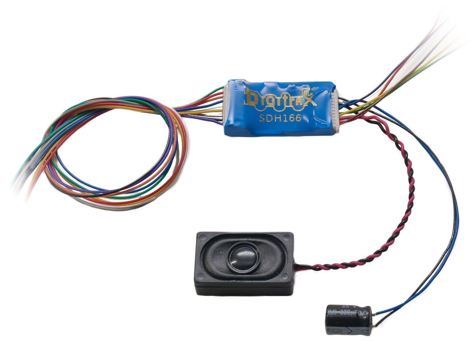 Digitrax DGTSDH166D HO 8 Bit Sound Decoder, Motor 6-Function