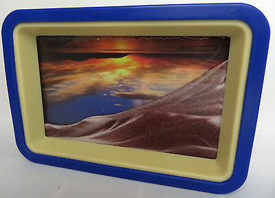 wunderschönes romantisches Sandbild * Sonnenuntergang am Meer * mit Spiegel