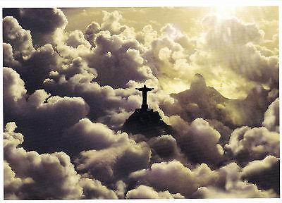 Ansichtskarte: Christus - Statue über den Wolken - Rio de Janeiro, Brasilien