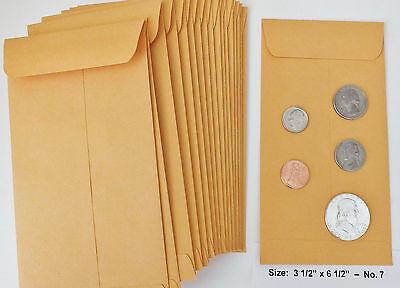 500 Kraft Coin Envelopes 3 12 X 6 12 20lb Manila 7
