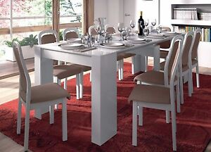 Manager Special - Lucia Extending Dining Table 90cm x 51cm-237cm White 1-10 Seat