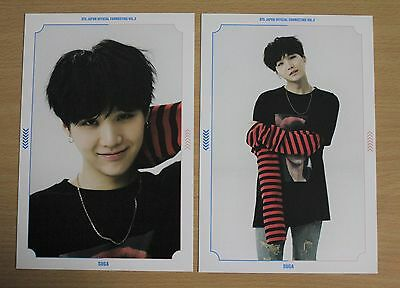 BTS Bangtan Boys SUGA Japan Fanmeeting Vol.3 official postcard set of 2