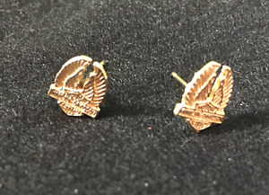 Harley Davidson 10 kt yellow gold earrings