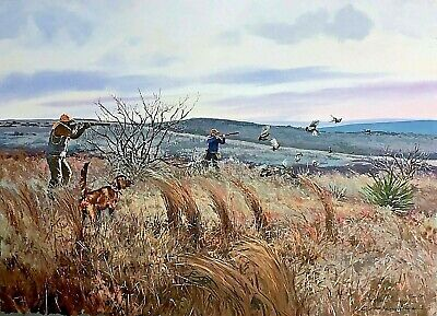 "Chance Yarbrough ""Cooper Dog""  FS GiClee Print 4/10 AP Quail Hunting, used for sale  Wharton"