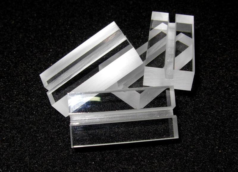 FOSSIL & MINERAL LABEL HOLDERS, Acrylic Plexiglass, 1 Dozen
