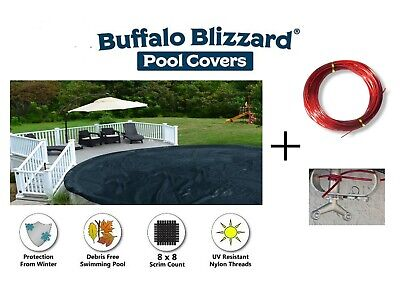 Buffalo Blizzard 24' Round Deluxe Swimming Pool Winter Cover - 10 Year -