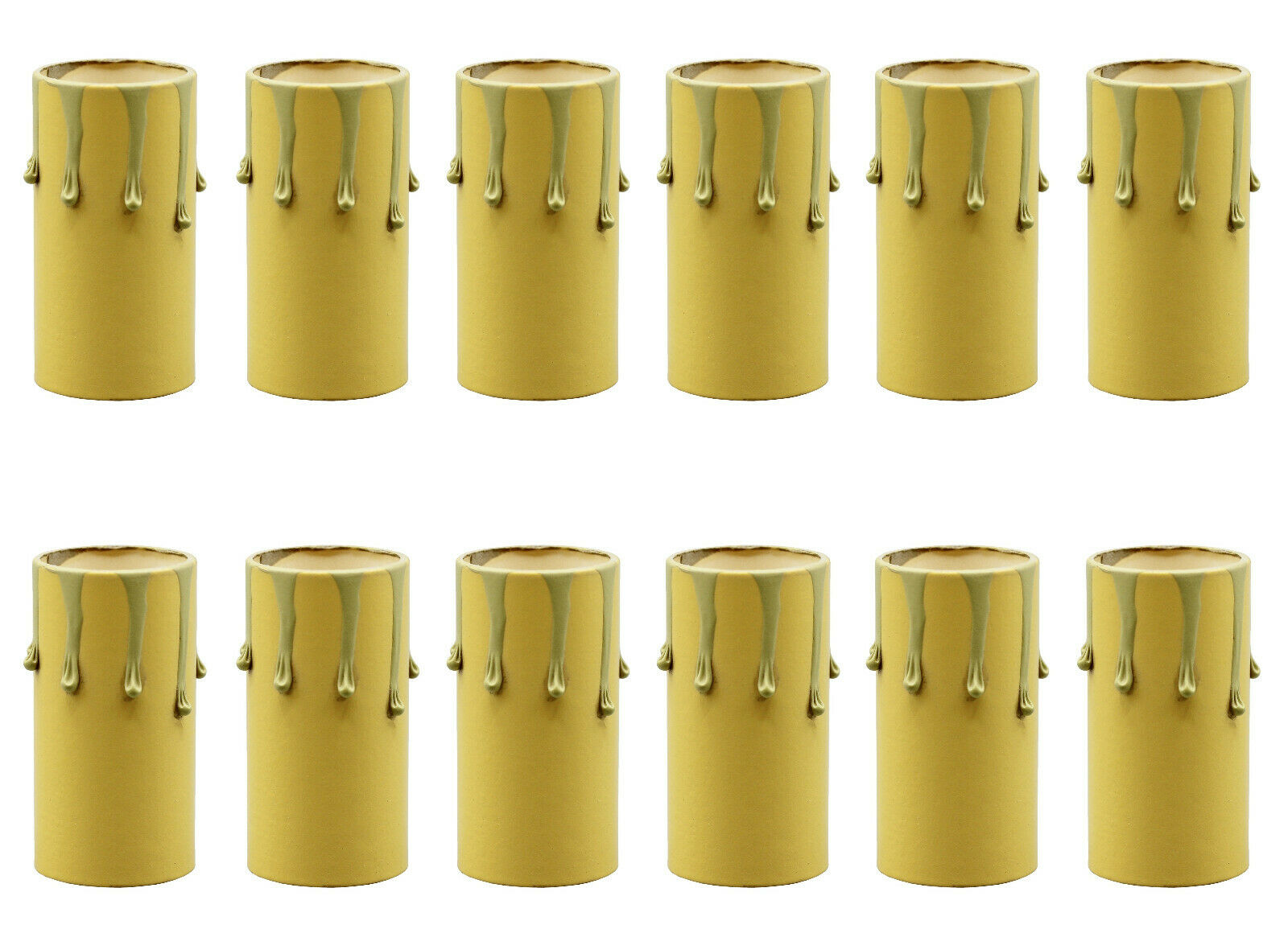 1 3/4 Inch Tall Antique Ivory Drip Candle Socket Covers ~ Candelabra Base 50 Pcs Collectibles