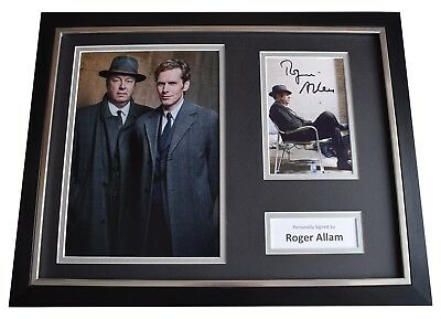 Roger Allam Signed Framed Photo Autograph 16x12 display Endeavour TV AFTAL COA