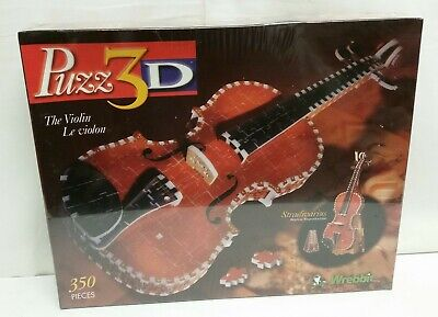 PuZZ 3D The Violin Stradivarius Replica, 350 pc Puzzle, Vintage, NEW, Sealed