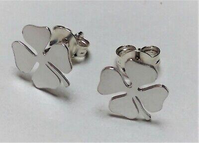 Ohrringe Klee Der Vier Blätter Silber Foliert 925